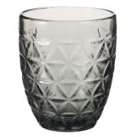 Vaso de cristal tintado gris Grave