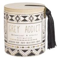 Vela perfumada de cerâmica com motivos étnicos Grey Addict