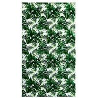 Velours strandlaken met tropische print 100x180