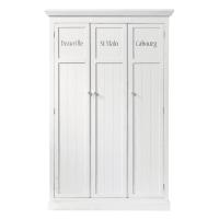Vestiaire en pin blanc L 125 cm Newport