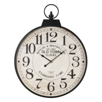 metal pocket watch clock D 60cm Vintage