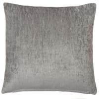 grey velvet cushion 45 x 45cm Vintage Velvet Iceberg