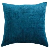 teal blue fabric cushion 45 x 54 cm Vintage Velvet