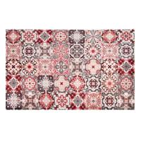 Vinyl-Teppich mit Zementfliesen-Motiven 100 x 150 Faro