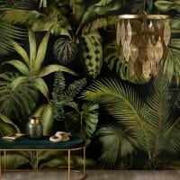 GREEN ADDICT - Vliesbehang met plantenprint 288x350