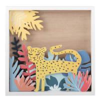 Wandbild mit Tropenwald 20x20 Leopard