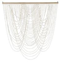 PALMERA - Wanddecoratie met schelpen en rotan 100x110