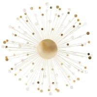 Wanddeko aus goldfarbenem Metalldraht D90 Carmen