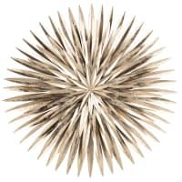 SOLINI - Wanddeko aus Metall, goldfarben 65x65