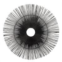 Wanddeko aus Rattan, schwarz 55x55 Dao