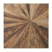 MASAO - Wanddeko aus Recyclingholz 100x100