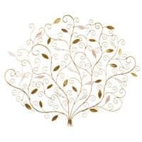 Wanddeko Baum aus goldfarbenem Metall 118x97 Elena