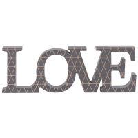 Wanddeko-Schriftzug grau 27x9 Love