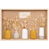 ELIE - Wanddeko Vase mit Trockenblumen, 45x30cm