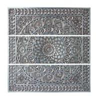 Wanddekoration, silbern, 100x100