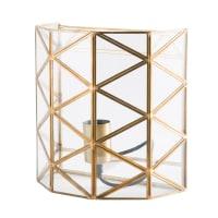 Wandlampe aus Glas und goldfarbenem Metall Astro