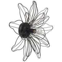 Wandlampe aus schwarzem Metalldraht Iberis