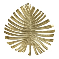 Wandleuchte in Blattform aus goldfarbenem Metall Palma