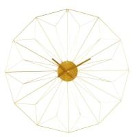 Wanduhr aus goldfarbenem Metall Akimi