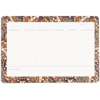 Weekly planner with multicoloured print 24x16cm
