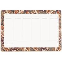 Weekplanner met meerkleurige motieven 24 x 16 cm