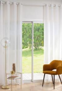 KAJANG - Weißer Vorhang mit Ösen, 1 Vorhang, 140x270cm