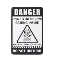 White and Black Metal Wall Plaque 30x45 Rebel