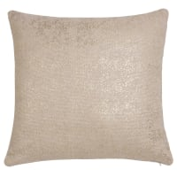White and Gold Cotton Cushion Cover 40 x 40 cm Shine