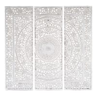 ANDAMAN - White Carved Triptych 150x150