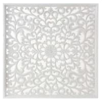 White Carved Wall Art 90x90