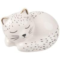 White Dolomite Kitten Figurine W6 Bonny Baby