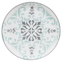 White Earthenware Printed Bicolore Dinner Plate Hectorine