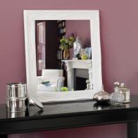 White Paulownia Wood Mirror 64x74 Enzo