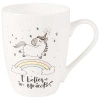 White Porcelain Mug with Unicorn Print Magicorn