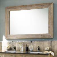 Whitewashed Rubberwood Mirror 100x200 Cancale