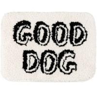 GOOD DOG - Wit en zwart tapijt 40 x 30 cm