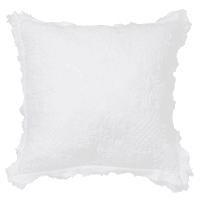 Wit katoenen kussen met reliëf 45x45 Anta