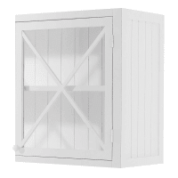 Wooden Kitchen Wall Unit in White, Left-Opening W60 Newport