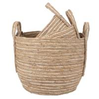 Woven Corn Fibre Baskets (x3)