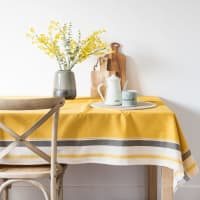 Yellow and Green Cotton Tablecloth 150x250 Lola