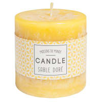 Set of 2 - Yellow cylindrical candle 7 x 7 cm