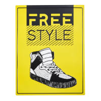 Yellow Metal Wall Plaque Shoes Hype