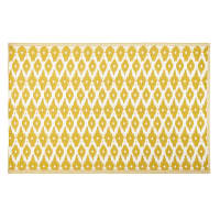 Yellow Outdoor Rug with White Graphic Print 180x270 Dhatu