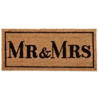 Zerbino marrone con stampa nera, 25x55 cm Mr & Mrs