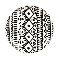 WAIROA - Set van 6 - Zwart en wit dessertbord van gres met motieven