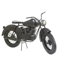 Zwart metalen motorfietsbeeld met verouderd effect L145 Elvis