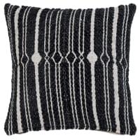 HOYLAND - Zwarte en taupe geweven kussenhoes 40 x 40 cm