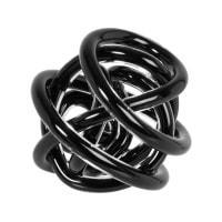 KNOT - Zwarte glazen decoratieve knoop