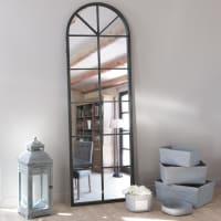 Zwarte metalen spiegel 59x180 Achille