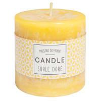 Zylindrische Kerze gelb 7 x 7 cm